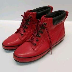 Bass Rubber Rain Boots Insulated Red Sz. 8